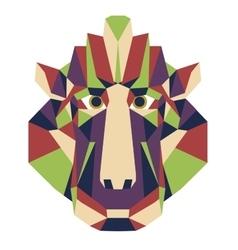 Monkey head triangular icon - low poly vector