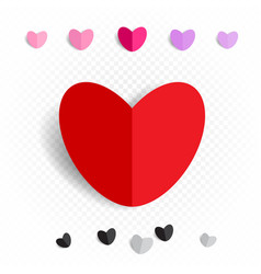 paper love heart decoration set vector image