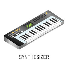 piano or synthesizer electronic music playing vector image