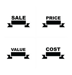 Price tags set sell price value cost vector
