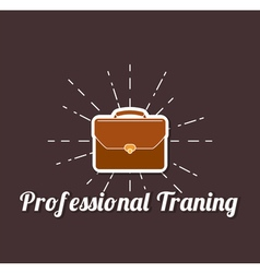 Professional Traning Briefcase Briefcase business vector image
