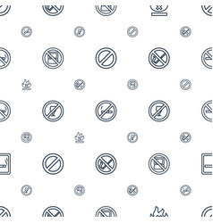 prohibition icons pattern seamless white vector image