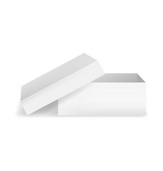 realistic detailed 3d template blank white square vector image