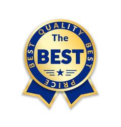 ribbon award best price label gold award vector image