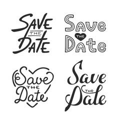 set hand drawn typography design element vector image