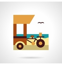 Shop on wheels flat color icon vector