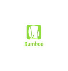simple bamboo logo vector image