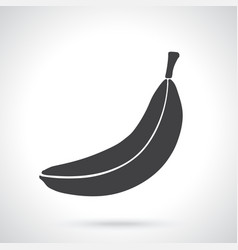 sticker not peeled banana vector image