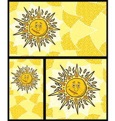 Sun Backgrounds vector image