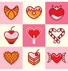 Sweets logo icons vector