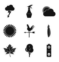 tasty vegetable icons set simple style vector image