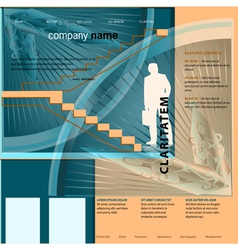 Template for business web site vector