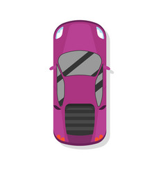 top view modern sport car isolated icon vector image
