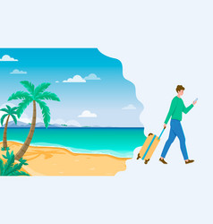 Tourism to tropical countries man using vector