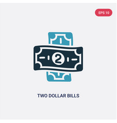 two color two dollar bills icon from security vector image