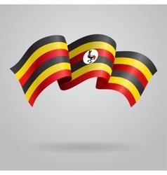 Ugandan waving Flag vector image