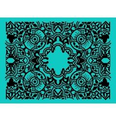 vintage flower motif arabic retro pattern vector image