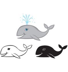 Whale set vector