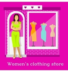 Woman Clothing Urban Store Design vector image