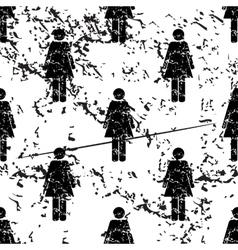 Woman pattern grunge monochrome vector image