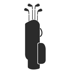 golf club bag silhouette vector image