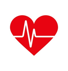 Heartbeat icon vector image vector image