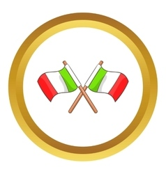 Italy crossed flags icon vector image vector image