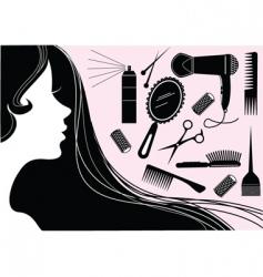 make up hair vector image vector image