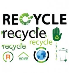 recycle logos vector image