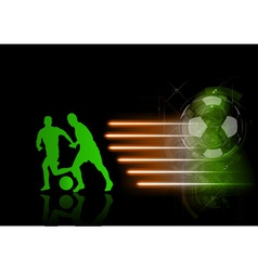soccer modern background green vector image vector image