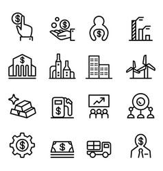 stock market stock exchange icon in thin line vector image