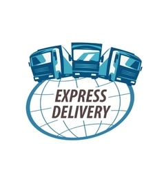 delivery logo design template traffic or vector image vector image