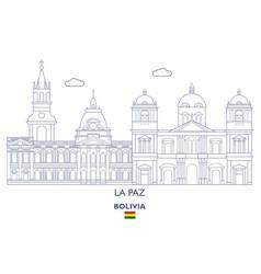 la paz city skyline vector image vector image