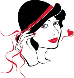 Lady in love vector