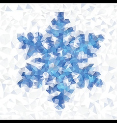 Seamless pattern geometric snowflake vector image vector image