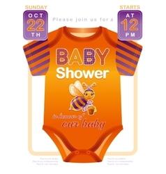 Unisex baby shower invitation design with body vector