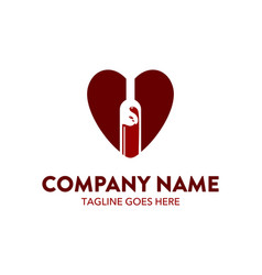 bar beverage logo template vector image vector image
