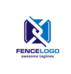 Chain link fence logo vector