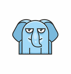 cute elephant icon on white background vector image vector image