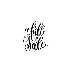 fall sale hand lettering inscription black ink vector image