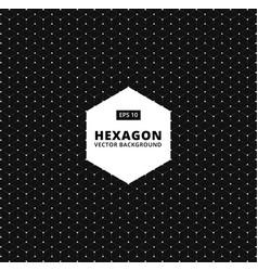 hexagon seamless pattern modern stylish texture vector image vector image
