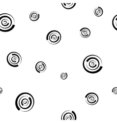 Polka dot chaotic seamless pattern 303 vector image