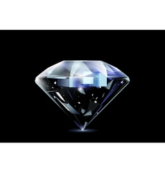 Realistic diamond vector image