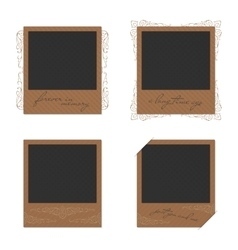 Set of vintage photo vector image vector image