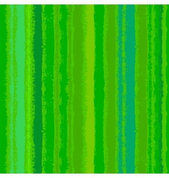 Striped pattern with brushed lines in green vector image