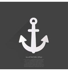 Anchor web icon vector image