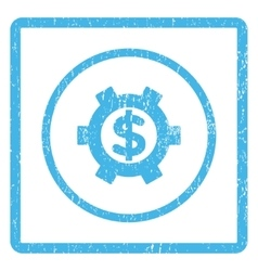 Financial Settings Icon Rubber Stamp vector image vector image