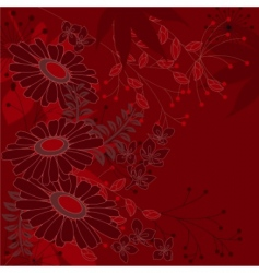 floral background with daisies vector image