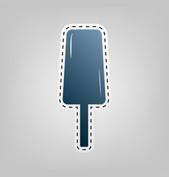 ice cream sign blue icon with outline for vector image vector image