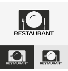 Label of the restaurant vector image vector image